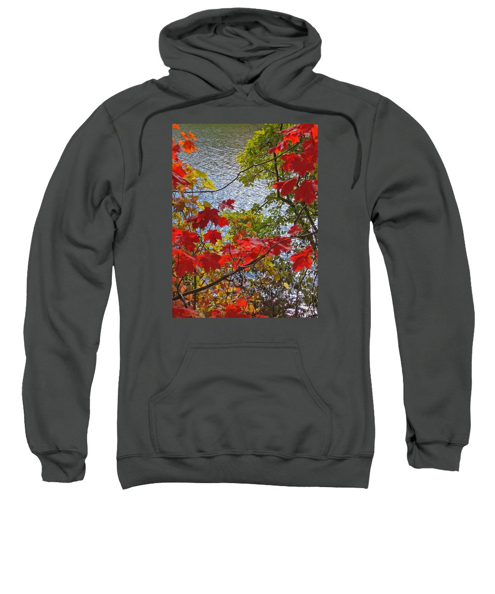 Autumn Sweatshirt featuring the photograph Autumn Lake by Ann Horn