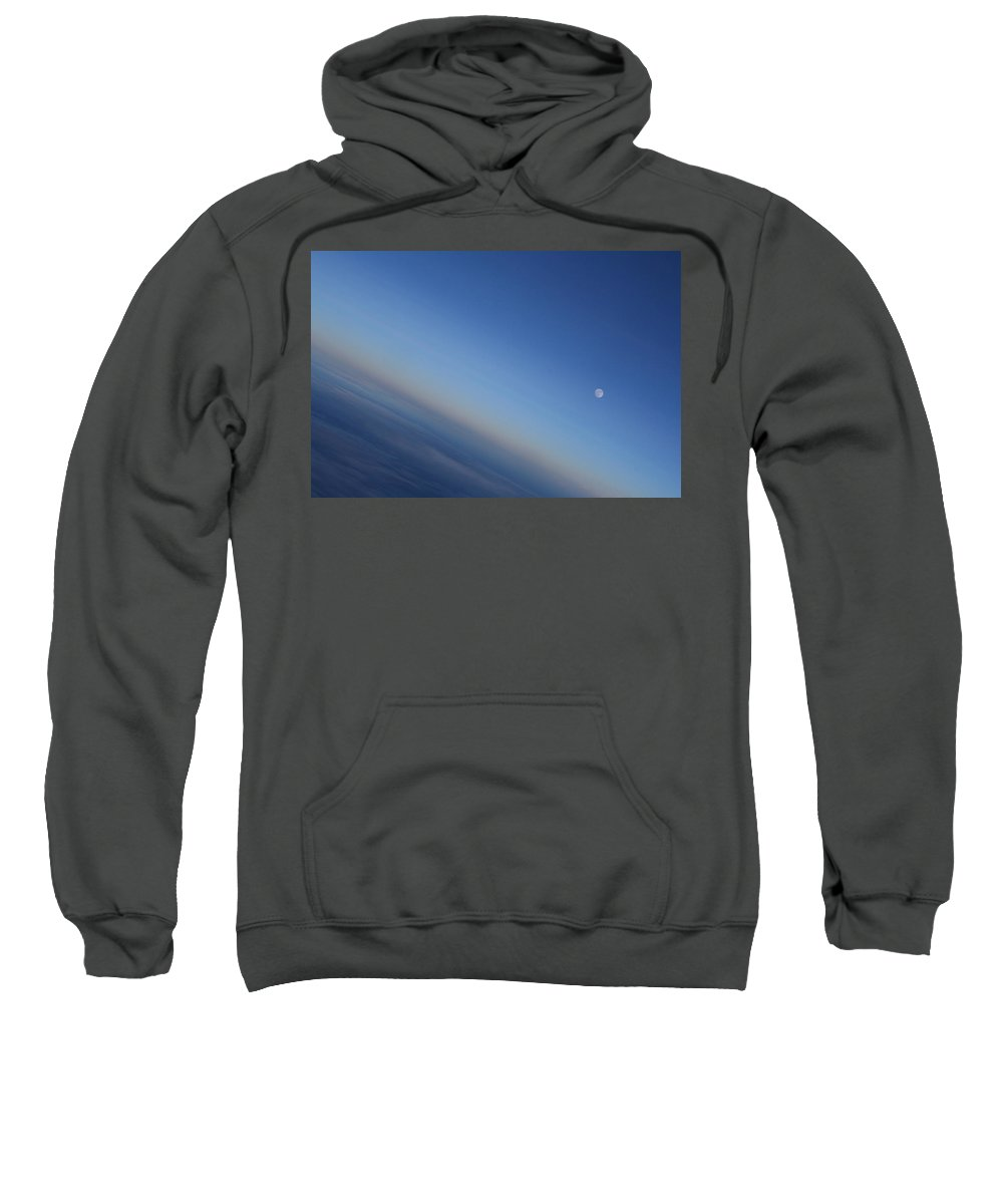 Moon Sweatshirt featuring the photograph Ascending Moon At Dusk by Lene Pieters