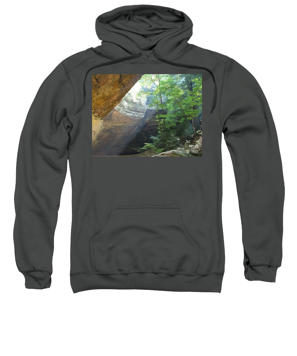 Photograph Sweatshirt featuring the photograph Ash Cave by Mindy Newman
