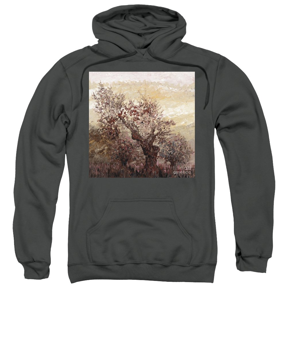 Landscape Sweatshirt featuring the painting Asian Mist by Nadine Rippelmeyer