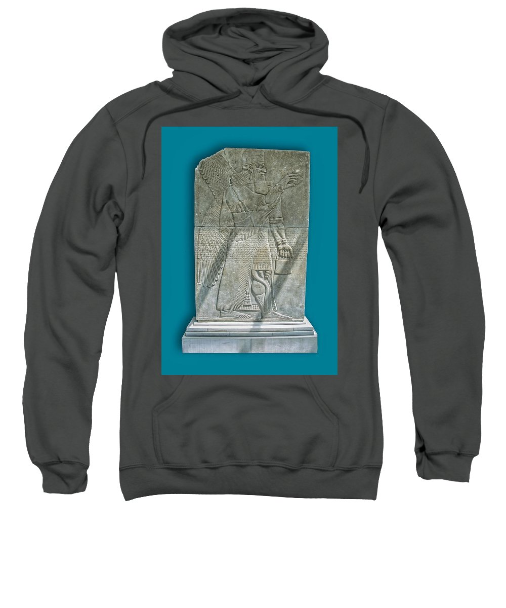 Sweatshirt featuring the photograph Assyrian Relief 01 by Robert Hayes