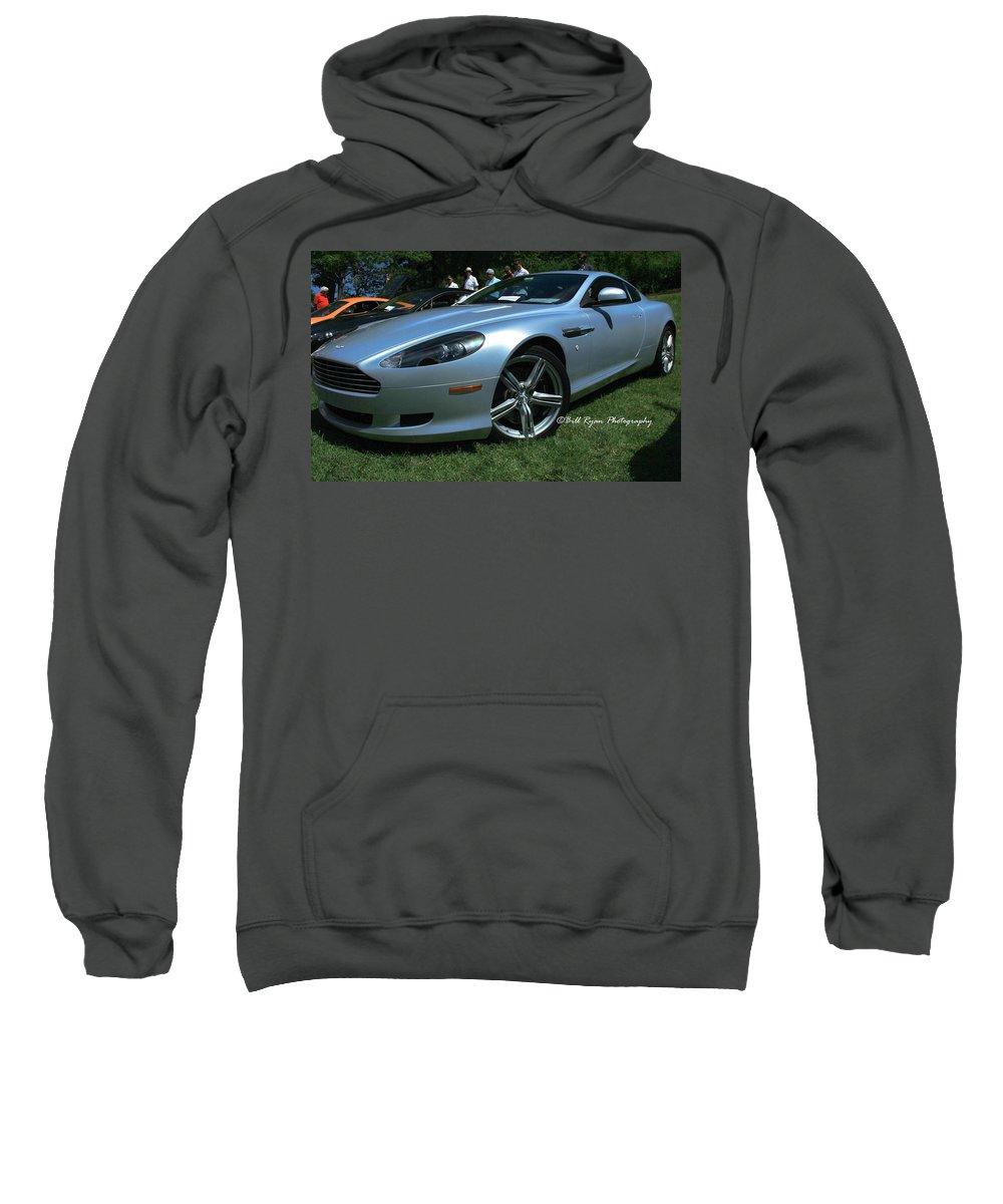 Aston Martin Sweatshirt featuring the photograph Aston Martin Db9 by Bill Ryan