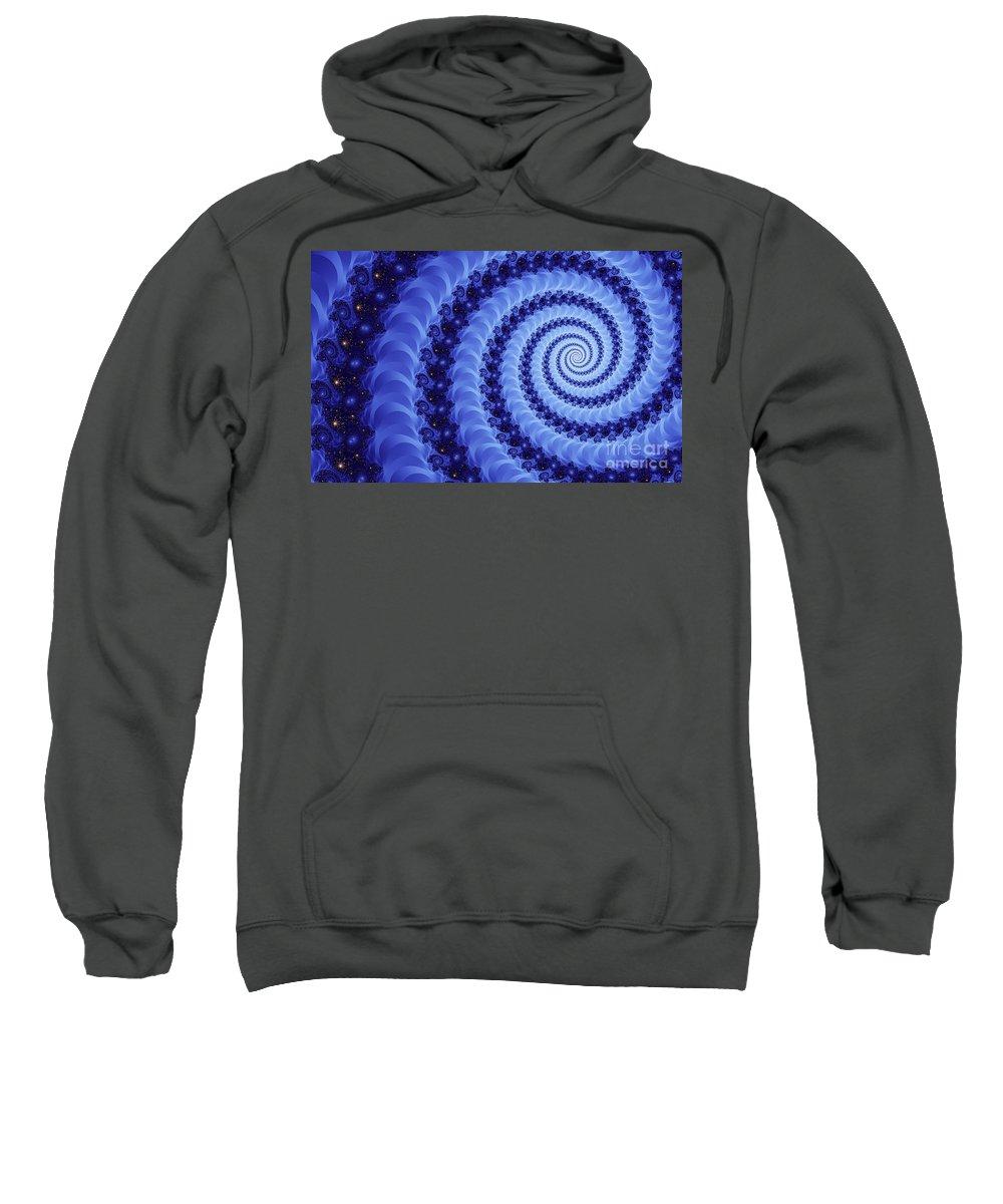 Clay Sweatshirt featuring the digital art Astral Vortex by Clayton Bruster