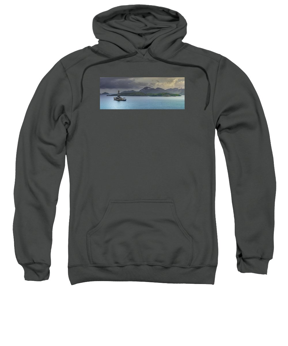 Anchor Sweatshirt featuring the photograph At Anchor by Will Akers
