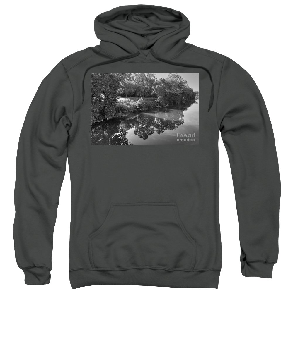 James River Sweatshirt featuring the photograph At Peace by Todd Hostetter