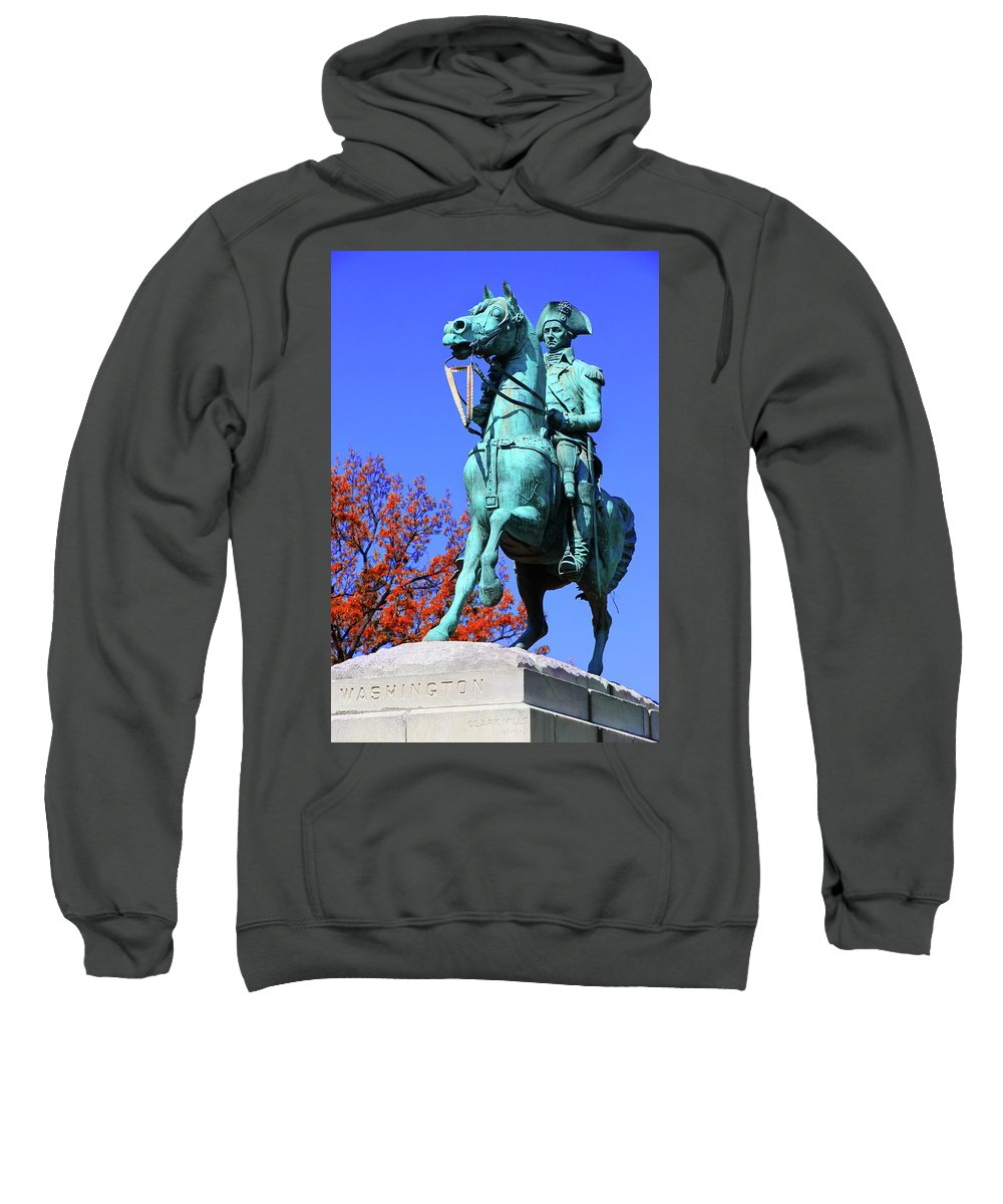 George Washington Sweatshirt featuring the photograph At The Battle Of Princeton by Iryna Goodall