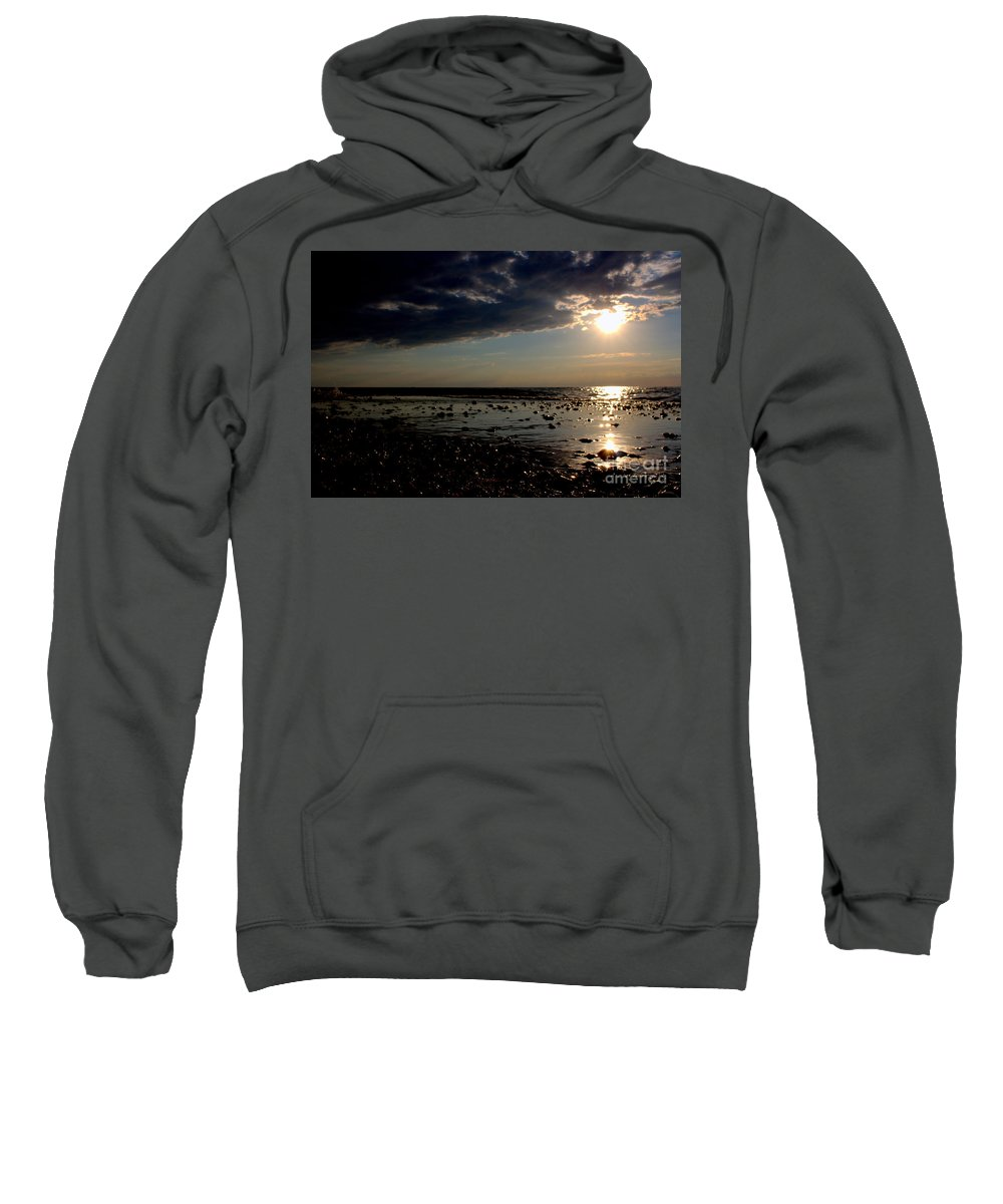 Grand Bend Sweatshirt featuring the photograph At The Bend by John Scatcherd