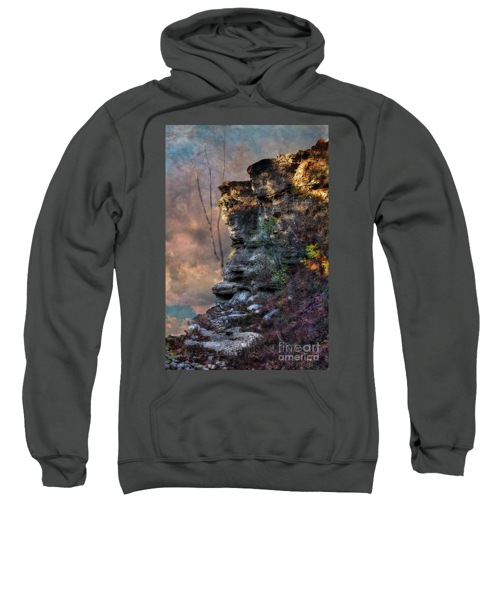 Larrybraunphotography Sweatshirt featuring the photograph At The Edge Of The Earth by Larry Braun