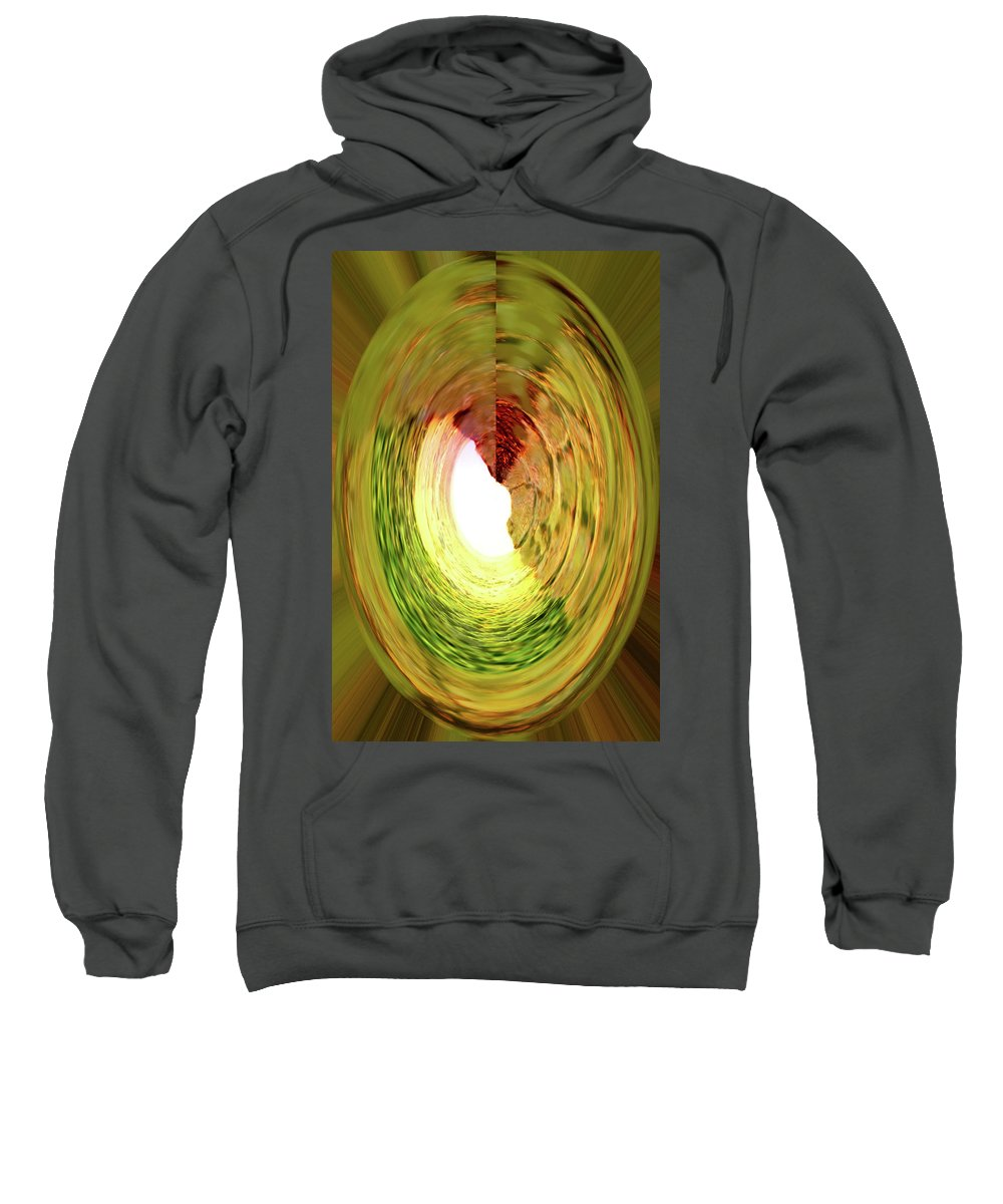Abstract Sweatshirt featuring the digital art At The End Of The Tunnel by Ian MacDonald