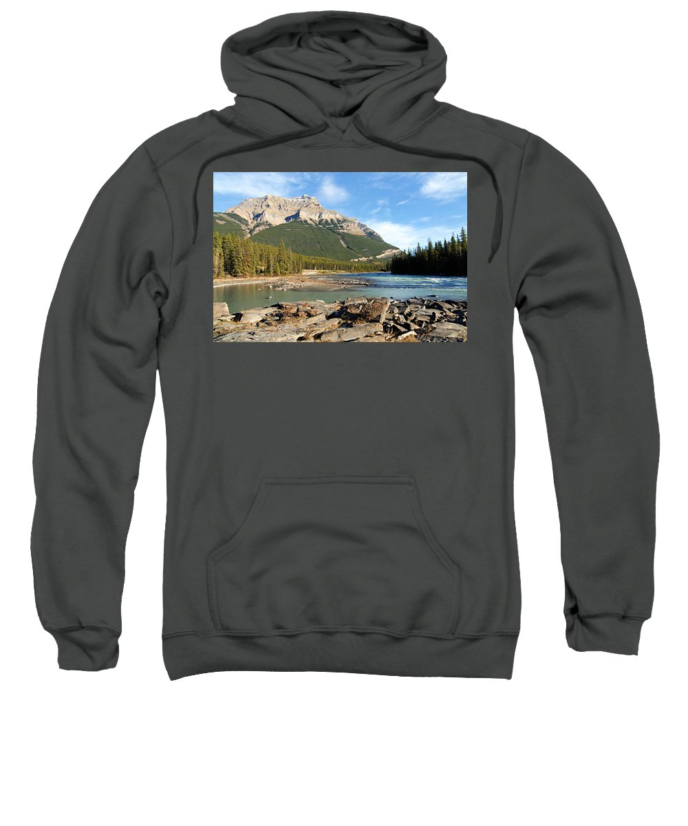 Athabasca River Sweatshirt featuring the photograph Athabasca River by Larry Ricker