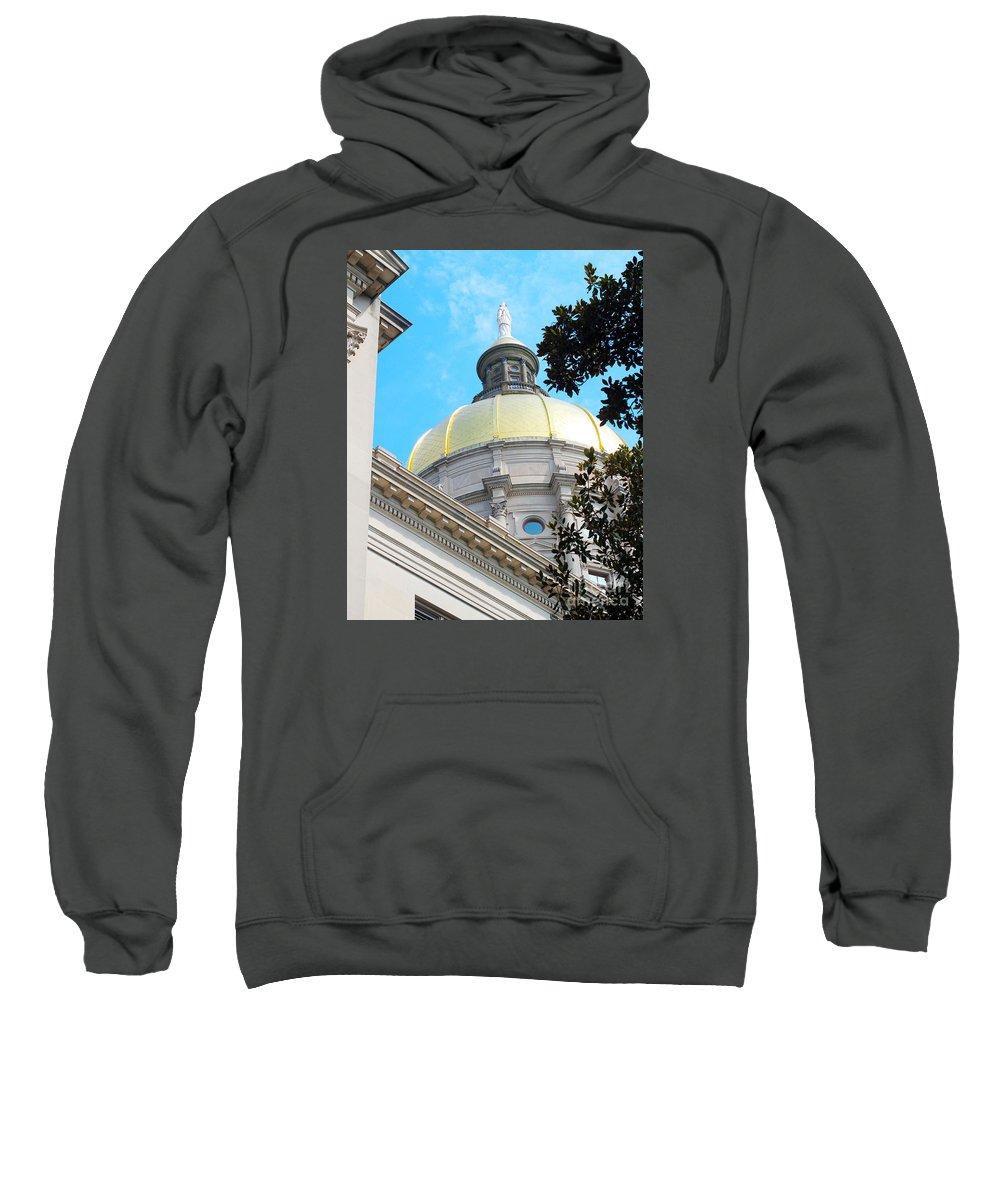 Atlanta Sweatshirt featuring the photograph Atlanta Capital by Kelley Sims