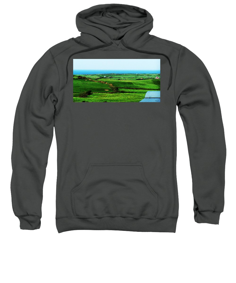 Ireland Sweatshirt featuring the photograph Atlantic View Doolin Ireland by Teresa Mucha