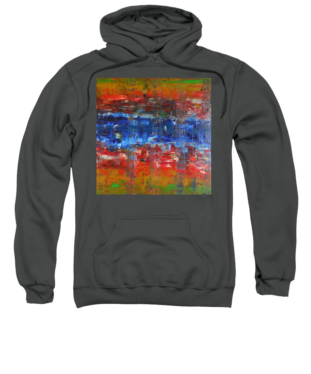 Contemporary Sweatshirt featuring the painting Attitude by Dawn Hough Sebaugh