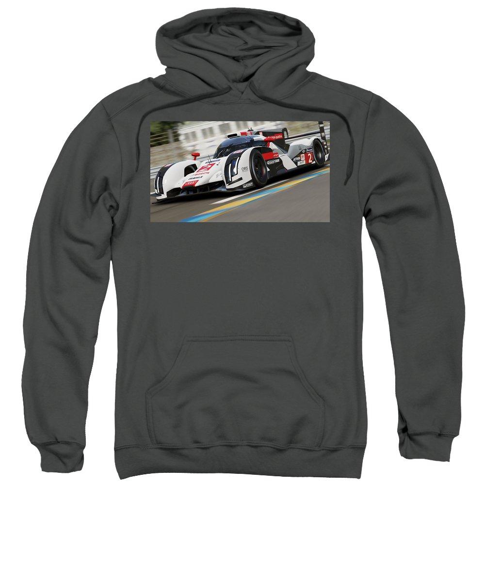 Audi Sweatshirt featuring the photograph Audi R18 E-tron, Le Mans - 12 by Andrea Mazzocchetti