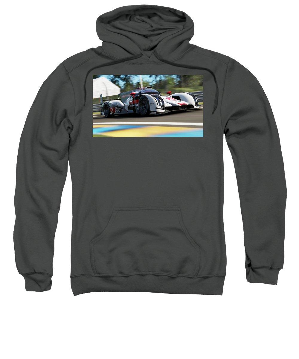 Audi Sweatshirt featuring the photograph Audi R18 E-tron, Le Mans - 14 by Andrea Mazzocchetti