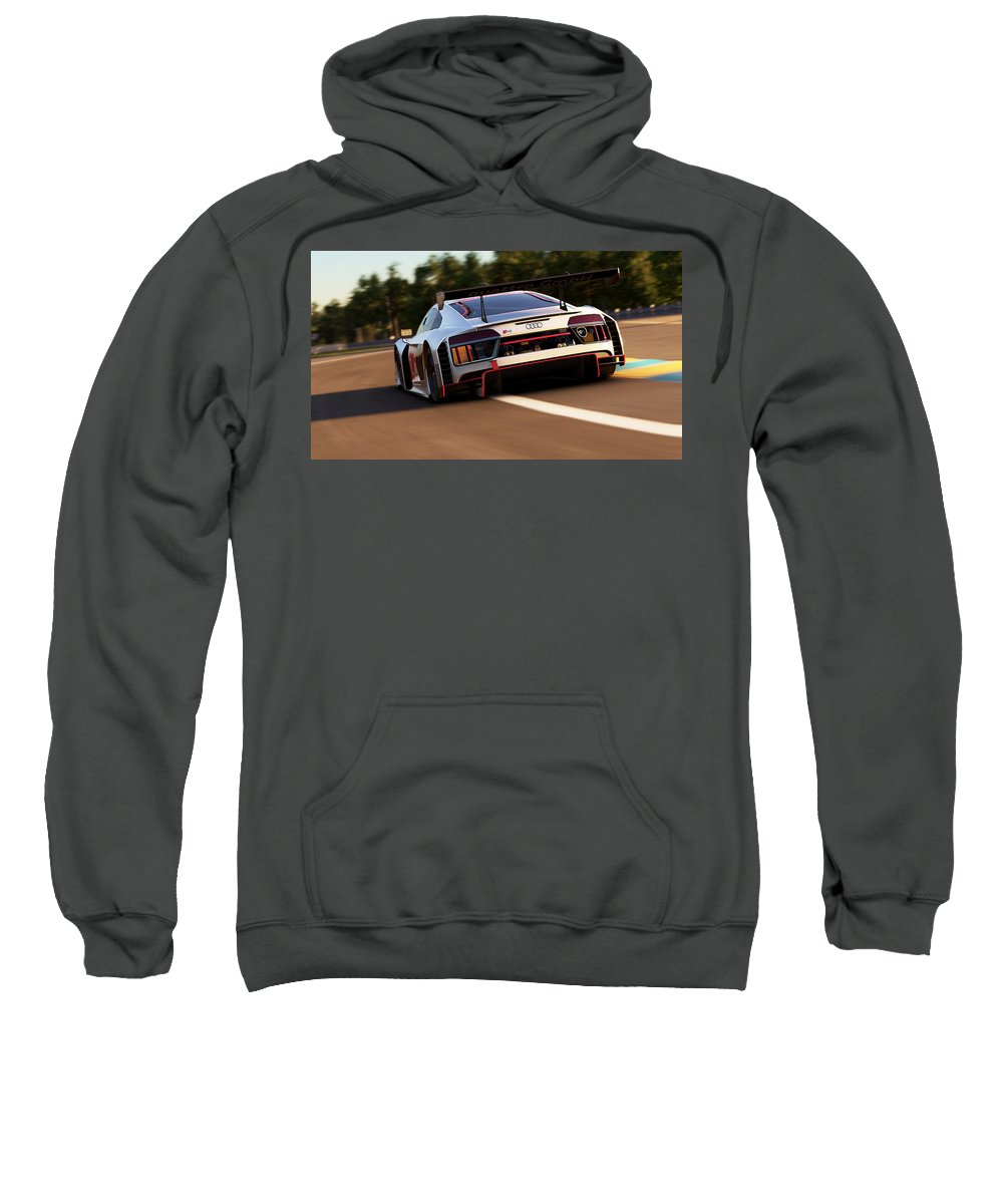 Audi Sweatshirt featuring the photograph Audi R8 Lms - 05 by Andrea Mazzocchetti