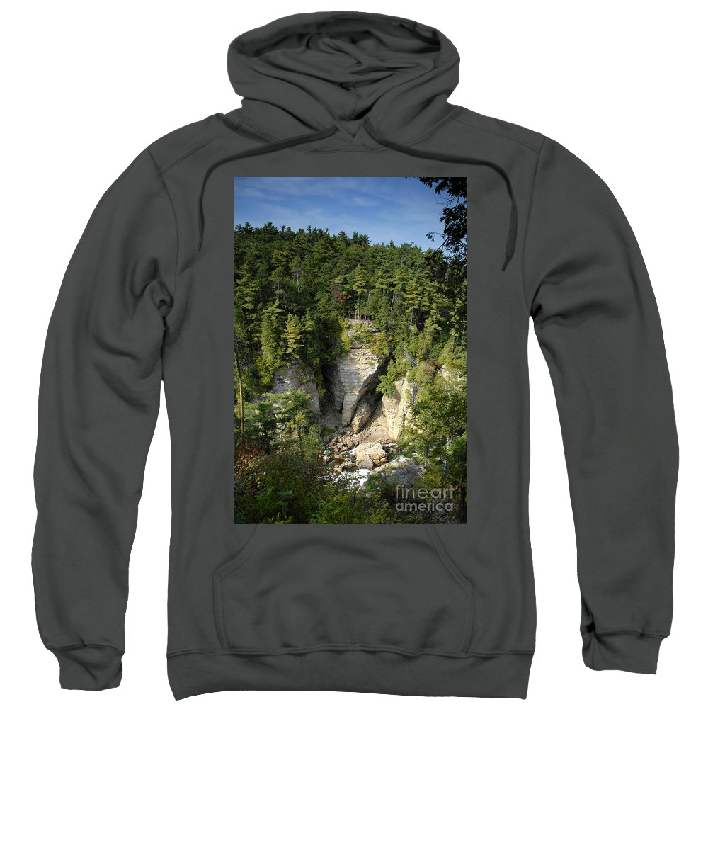 Ausable Chasm Sweatshirt featuring the photograph Ausable Chasm by David Lee Thompson