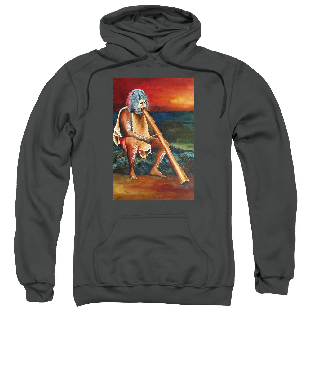 Australian Sweatshirt featuring the painting Australian Solo by Karen Stark