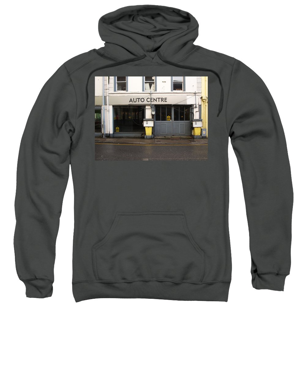 Auto Sweatshirt featuring the photograph Auto Centre by Tim Nyberg