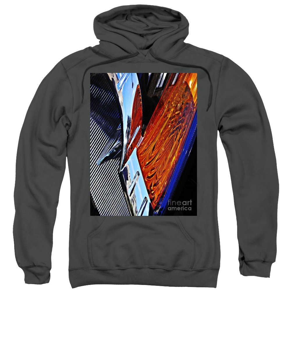 Headlight Sweatshirt featuring the photograph Auto Headlight 31 by Sarah Loft