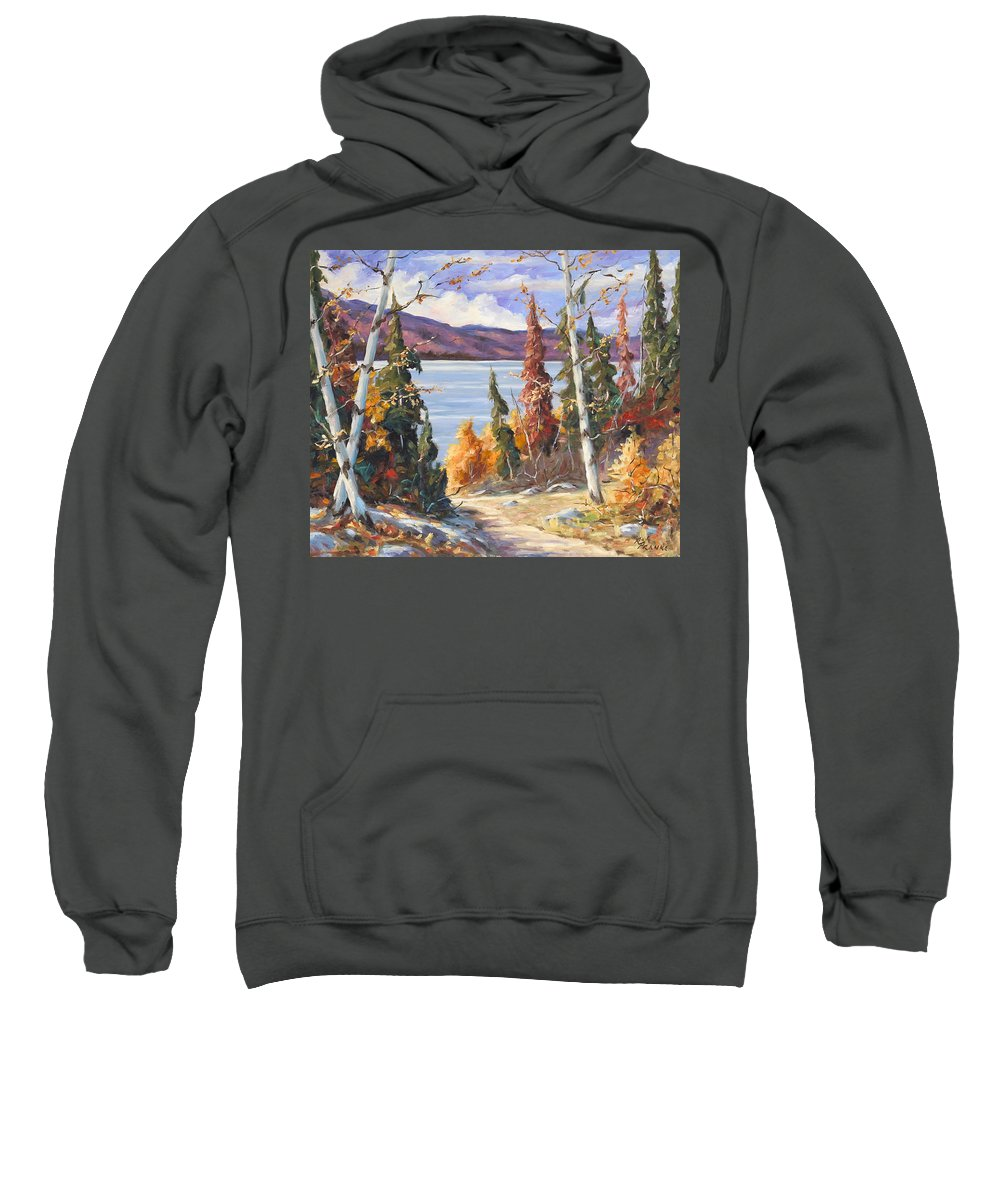 Art Sweatshirt featuring the painting Automn Colors by Richard T Pranke
