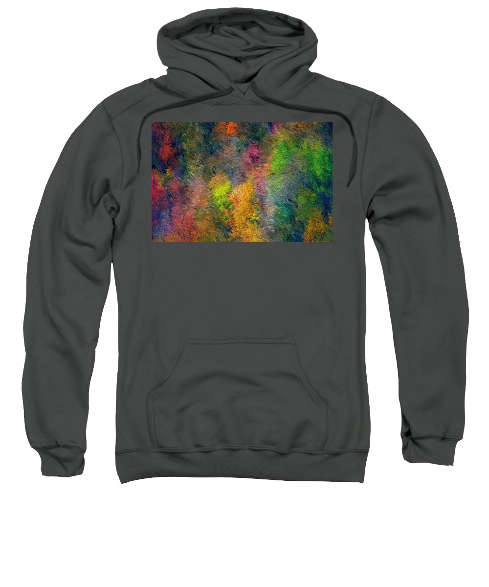 Landscape Sweatshirt featuring the digital art Autum Hillside by David Lane