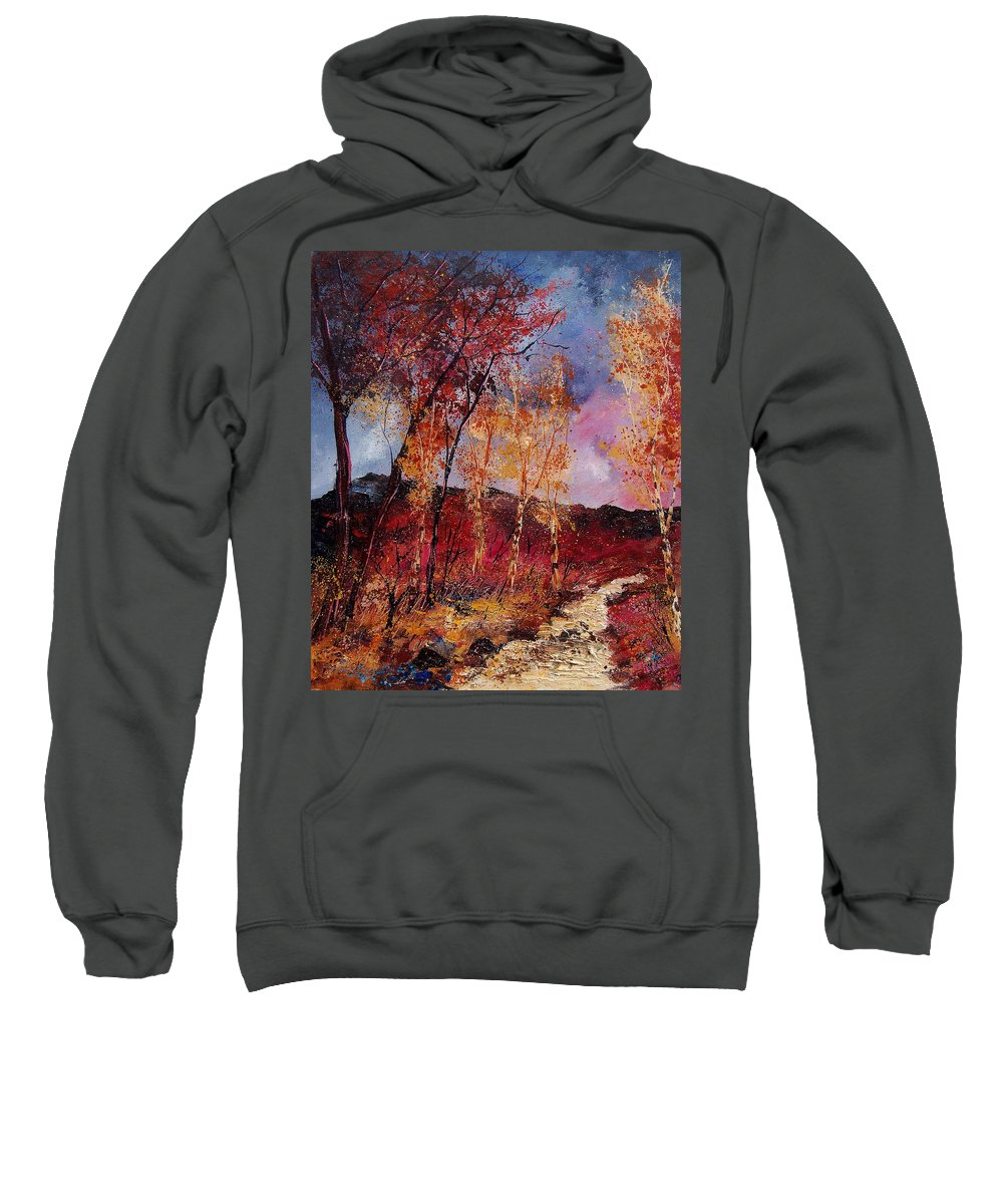 Tree Sweatshirt featuring the painting Autumn 6712545 by Pol Ledent
