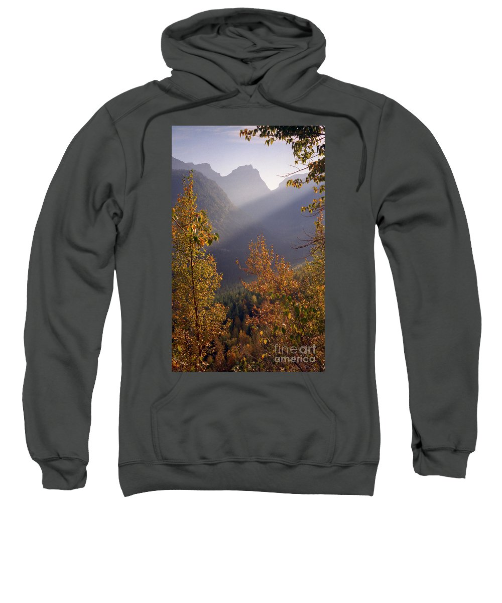 Mountains Sweatshirt featuring the photograph Autumn At Logan Pass by Richard Rizzo