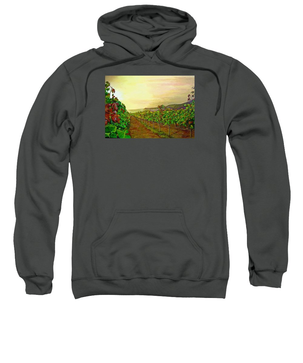 Vineyard Sweatshirt featuring the painting Autumn At Steenberg by Michael Durst