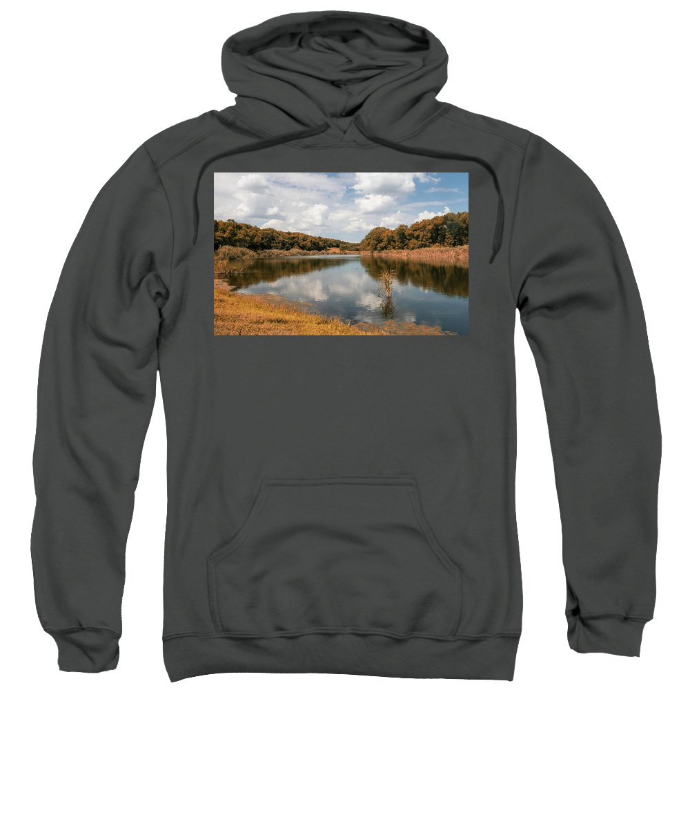 Natalya Antropova Sweatshirt featuring the photograph Autumn At The Lake by Natalya Antropova