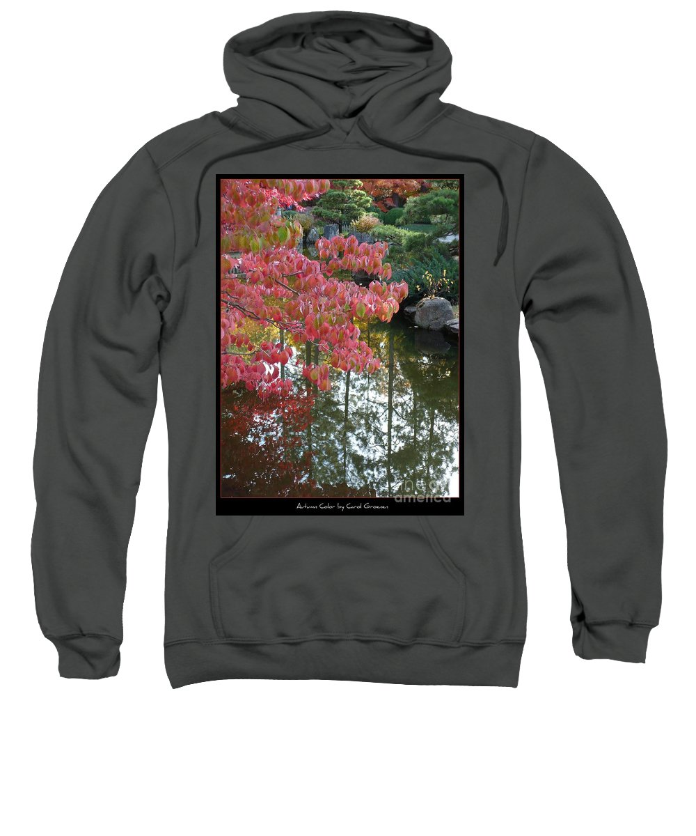 Colorful Sweatshirt featuring the photograph Autumn Color Poster by Carol Groenen