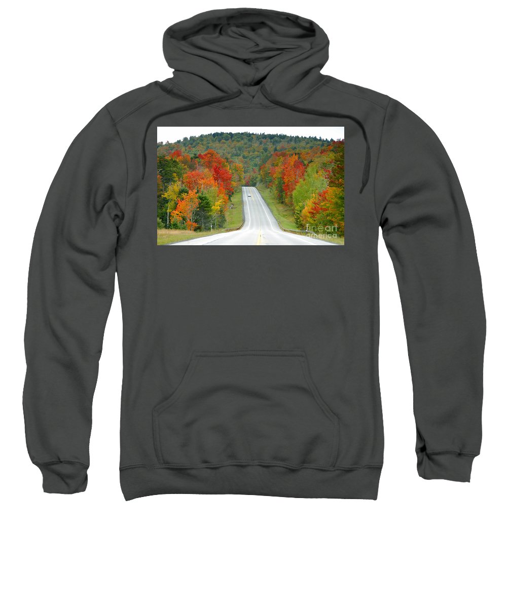 Autumn Sweatshirt featuring the photograph Autumn Drive by David Lee Thompson
