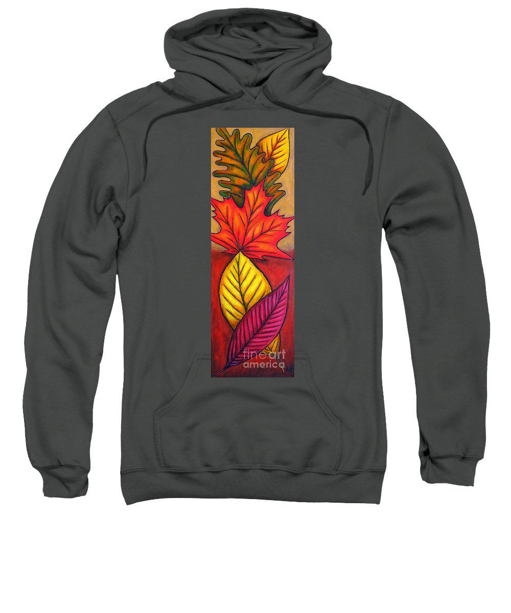 Autumn Sweatshirt featuring the painting Autumn Glow by Lisa Lorenz