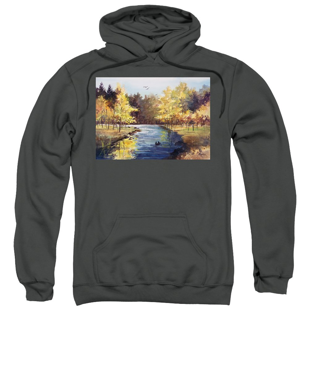 Watercolor Sweatshirt featuring the painting Autumn Impressions by Ryan Radke