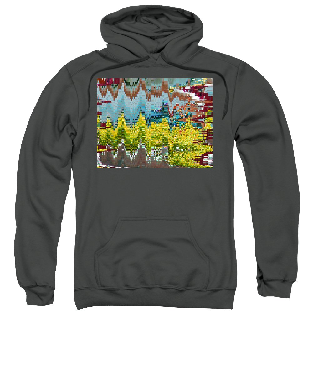 Abstract Sweatshirt featuring the digital art Autumn In Native America by Lenore Senior