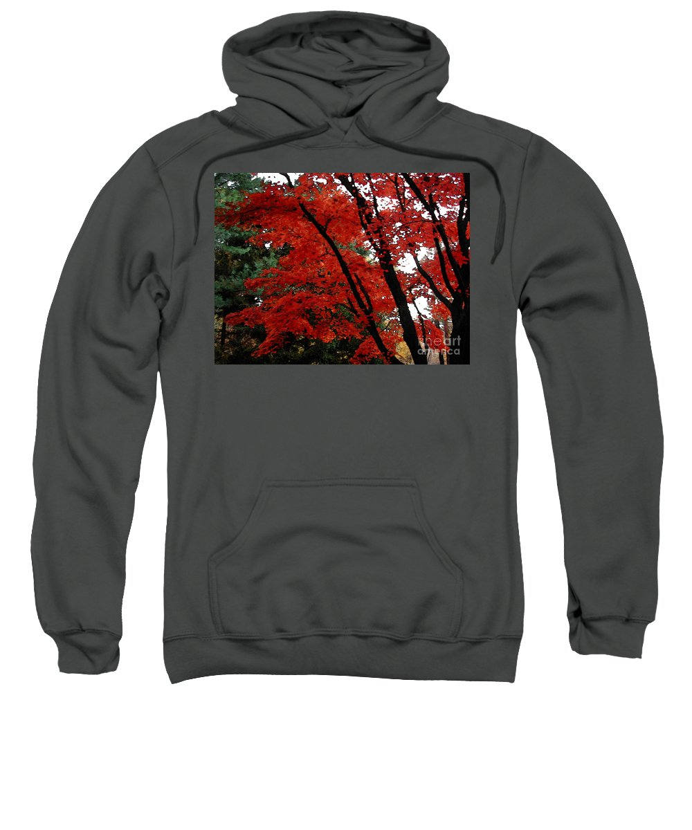 Autumn Sweatshirt featuring the photograph Autumn In New England by Melissa A Benson