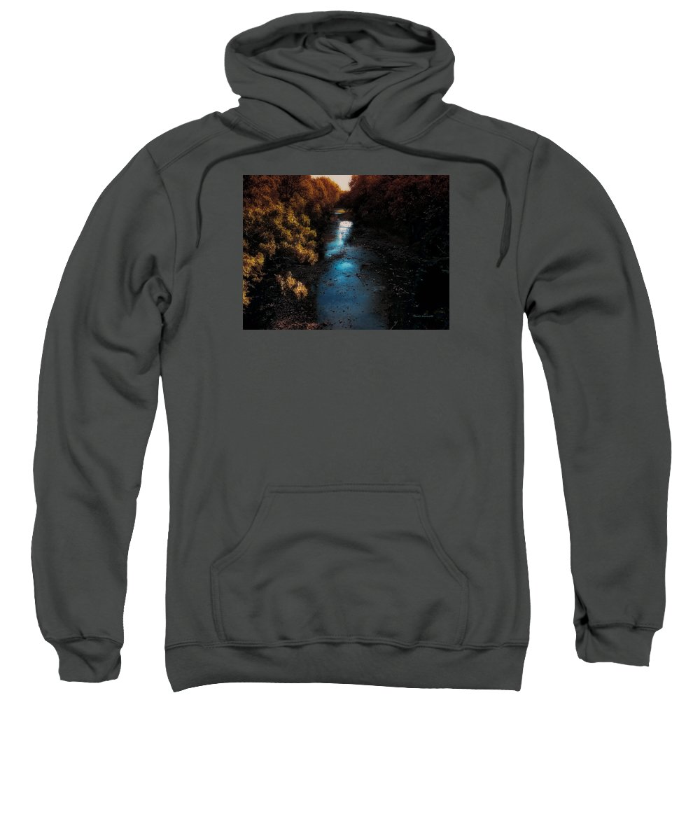Autumn Sweatshirt featuring the photograph Autumn In The Tributary by Thomas Woolworth