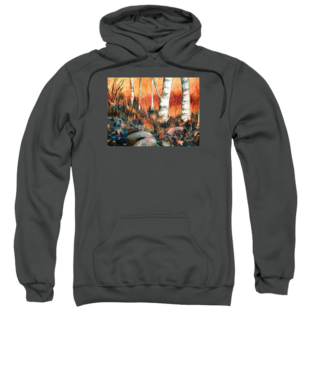Landscape Sweatshirt featuring the painting Autumn by Karen Stark
