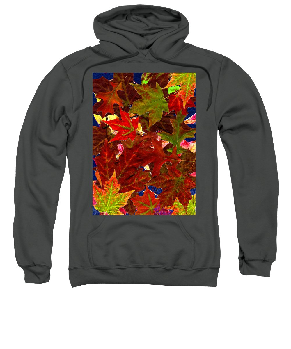 Collage Sweatshirt featuring the photograph Autumn Leaves by Nancy Mueller