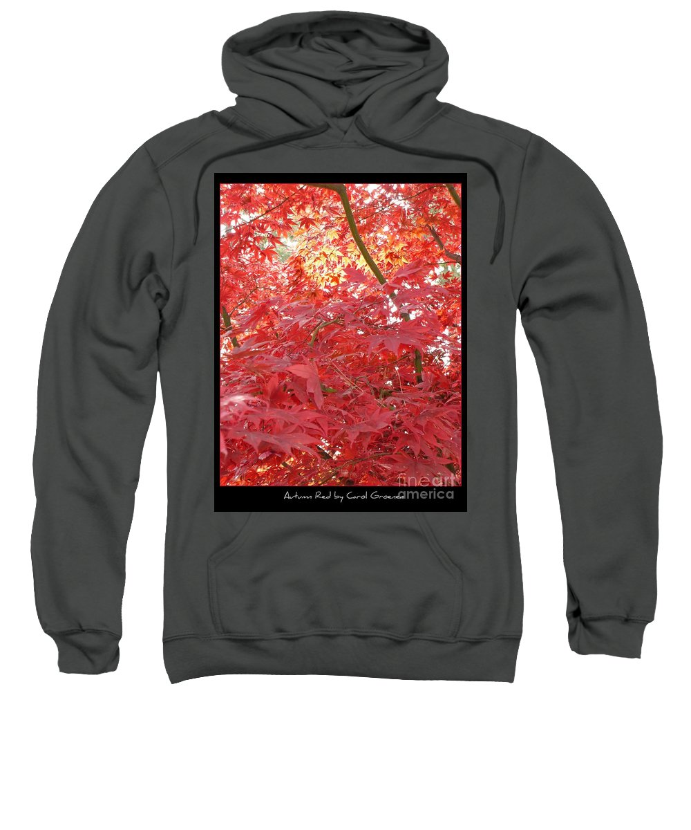 Autumn Sweatshirt featuring the photograph Autumn Red Poster by Carol Groenen