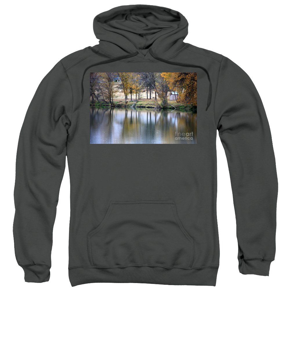Fall Reflection Sweatshirt featuring the photograph Autumn Reflection 16 by Carol Groenen