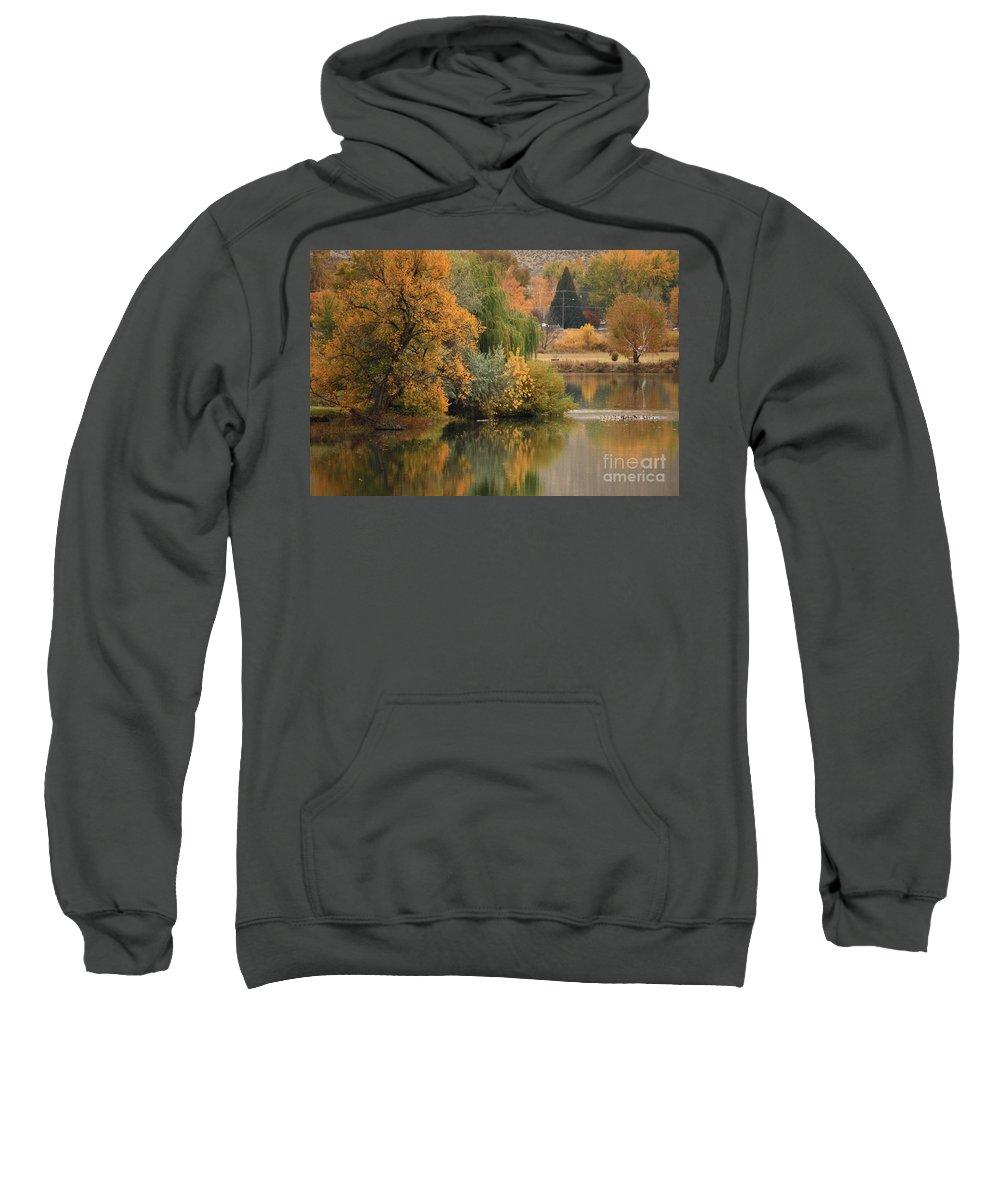 Autumn Sweatshirt featuring the photograph Autumn Reflection 41 by Carol Groenen