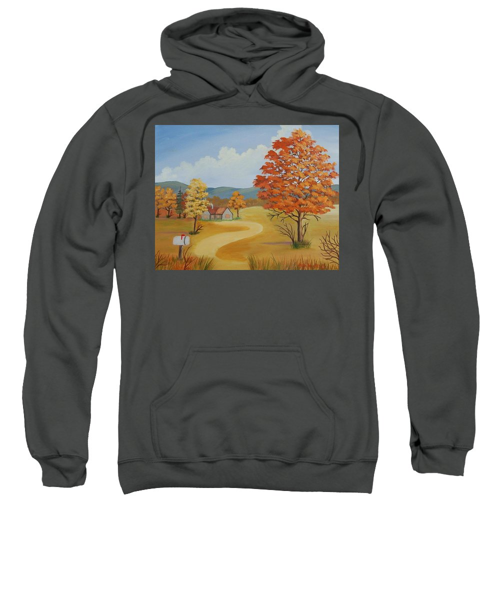 Landscape Sweatshirt featuring the painting Autumn Season by Ruth Housley