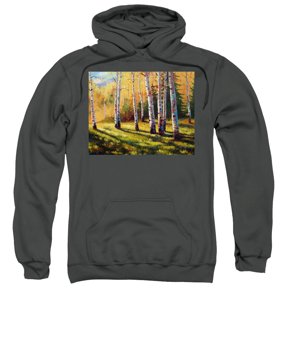 Landscape Sweatshirt featuring the painting Autumn Shade by David G Paul