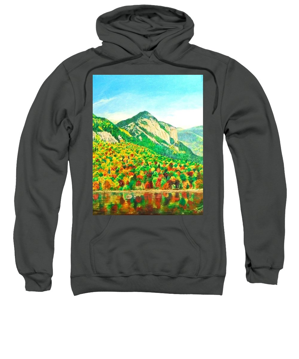 Fall Sweatshirt featuring the painting Autumn Song by Dhammika Bandara