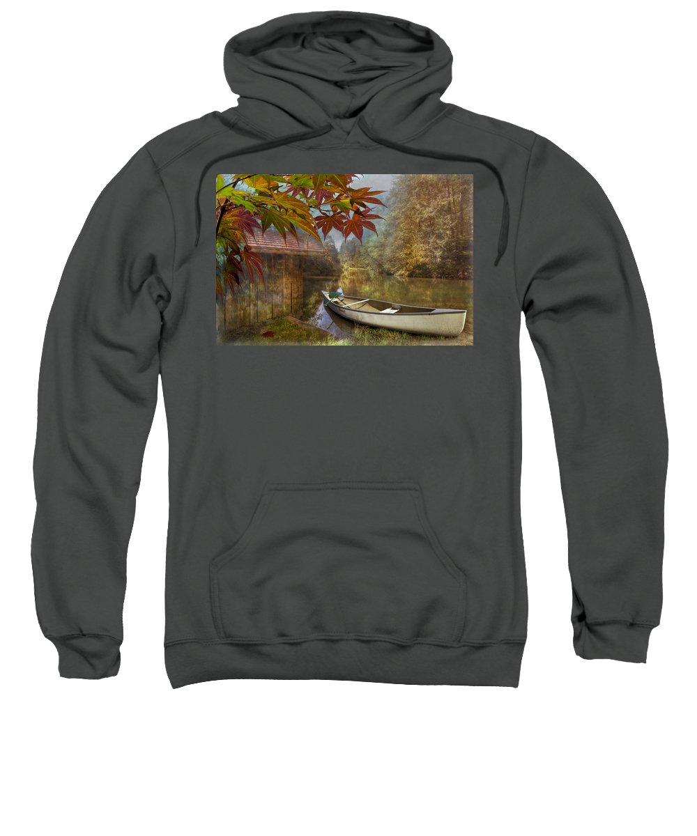 American Sweatshirt featuring the photograph Autumn Souvenirs by Debra and Dave Vanderlaan