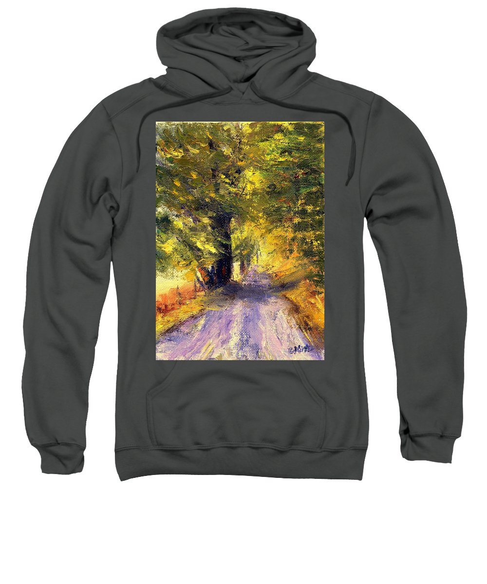 Autumn Sweatshirt featuring the painting Autumn Walk by Gail Kirtz