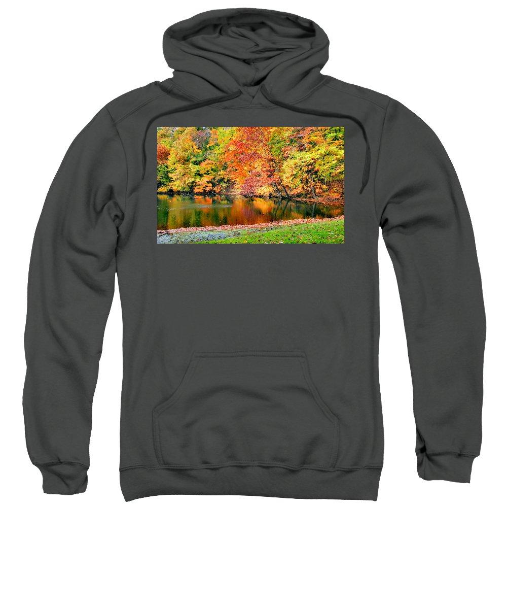 Autumn Sweatshirt featuring the photograph Autumn Warmth by Kristin Elmquist