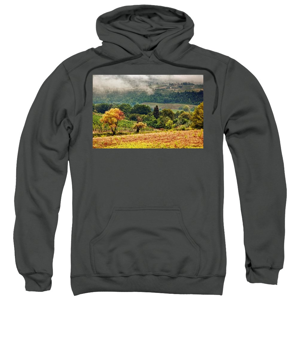 Fall Sweatshirt featuring the photograph Autumnal Hills by Silvia Ganora