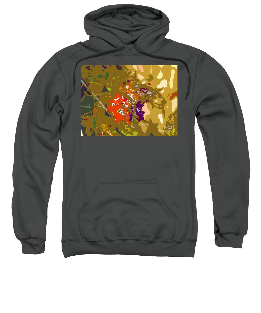 Autumn Sweatshirt featuring the photograph Autumns Leaf by David Lee Thompson